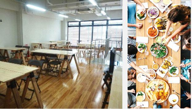 1樓有共用廚房和客廳